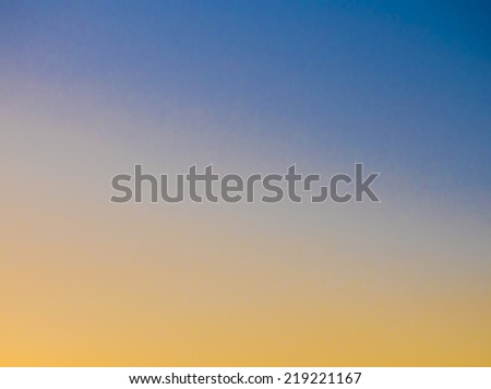 Image of blue sky background with yellow colors. - stock photo