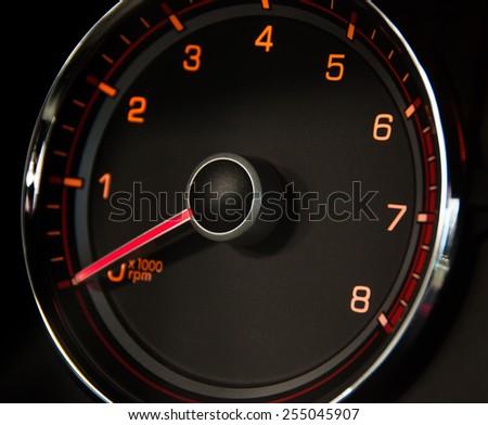 Image of brand new  car tachometr - stock photo