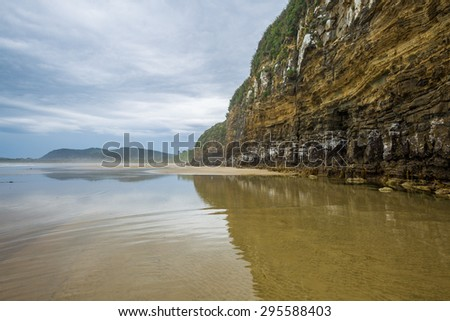 image of Cathedral Caves, Catlins, South Island,New Zealand - stock photo