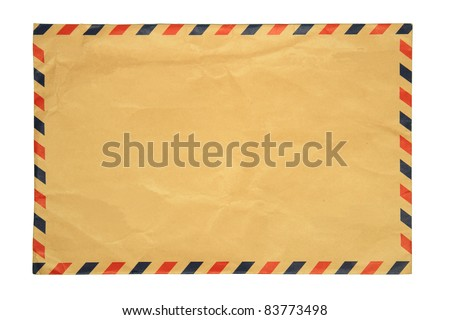 image of classic vintage envelope on white background - stock photo