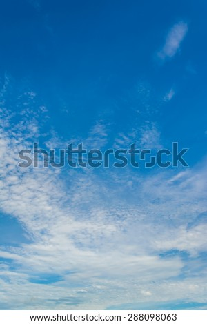 image of clear sky with white clouds on day time for background usage . - stock photo