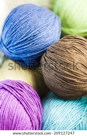 Image of colorful different thread balls - stock photo