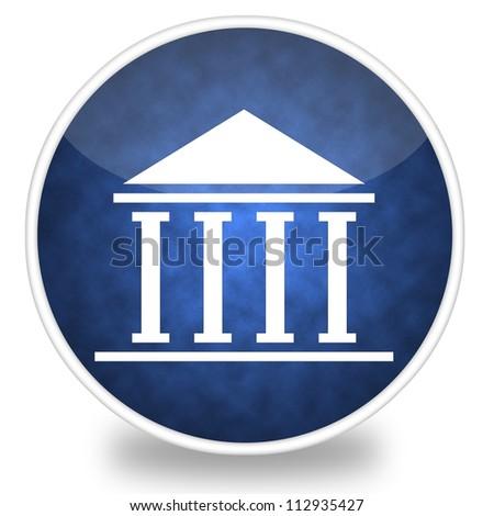 Image of courthouse icon illustration - stock photo