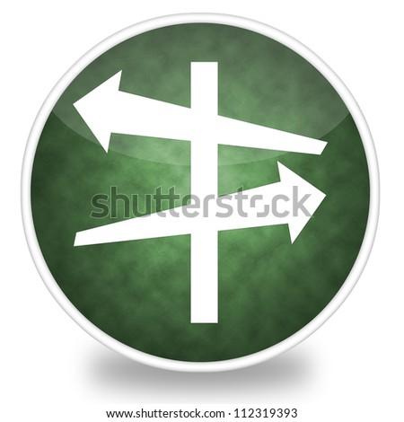 Image of decision icon illustration - stock photo