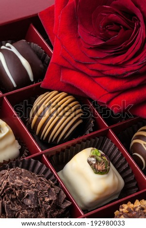 Image of delicious chocolate - stock photo