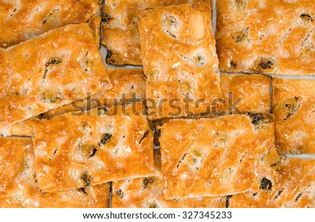 image of delicious cookies close-up - stock photo