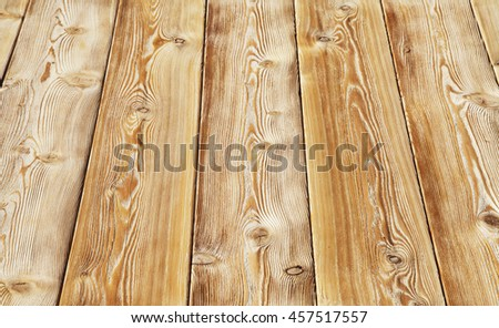 Image of empty bumpy wooden table top - stock photo