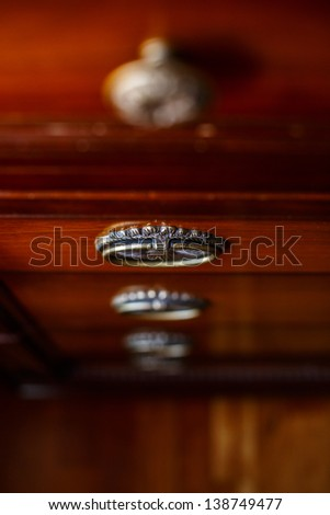 Image of few lockers of cupboard - stock photo