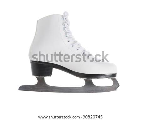 image of figure skate. Isolated on white background - stock photo