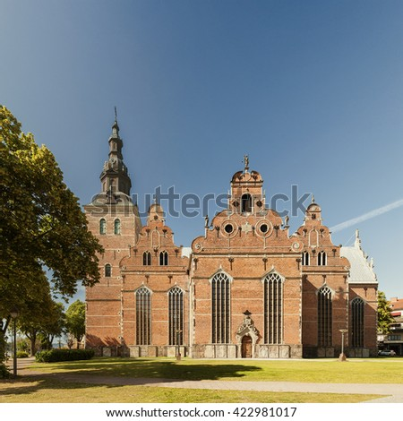 Image of Holy Trinity church in Kristianstad, Sweden.  - stock photo