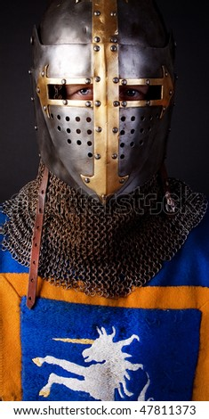 image of knight without weapons - stock photo