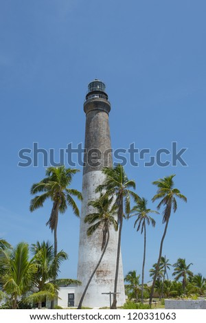 Image of lighthouse in dry tortugas - stock photo