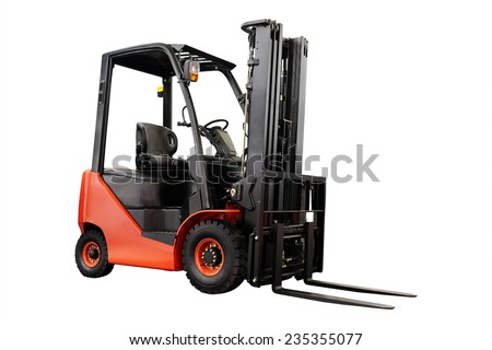 image of loader under the white background - stock photo