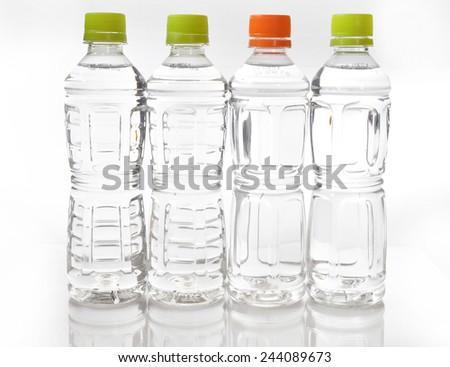 Image of many plastic bottles - stock photo
