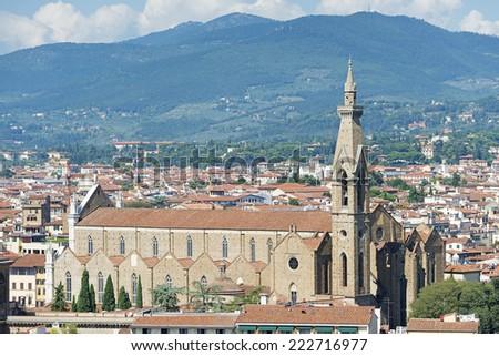 Image of Monastery Santa Maria Novella in Florence, Italy - stock photo