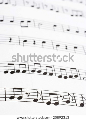 Image of music notes paper - stock photo