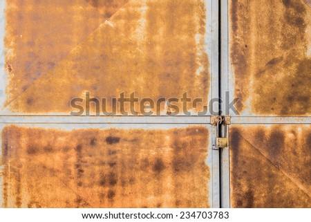 image of old rusty door lock . - stock photo
