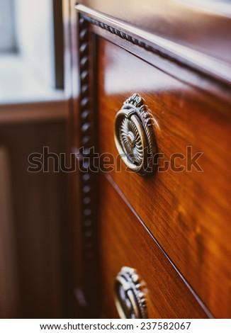 Image of old stylish cupboard - stock photo