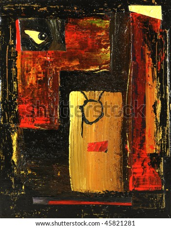 Image of original Artwork oil on Canvas Painting - stock photo