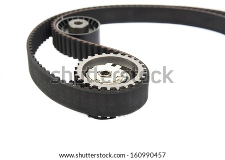 Image of Part of timing belt, spare parts - stock photo