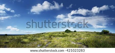 Image of puru kambera hills landcape on sumba island, indonesia - stock photo