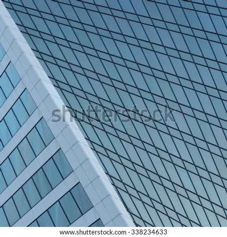 Image of skyscrapers Moscow city business centre, Moscow, Russia - stock photo
