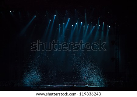 image of stage lighting effects - stock photo