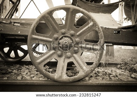 image of Steam train, wheels . - stock photo