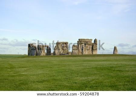 Image of Stonehenge monument, England - stock photo