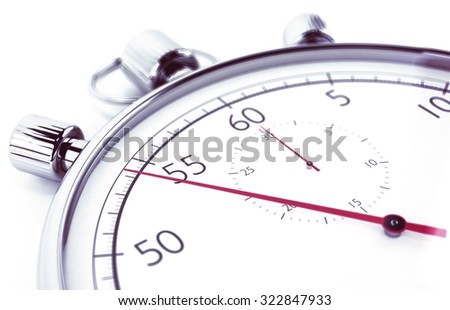 Image of stopwatch that measures the time - stock photo
