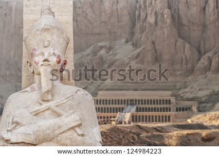 Image of the ancient temple of Hatsepsut in Luxor, Egypt. - stock photo