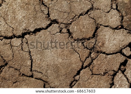 Image of the earth dried up in drought - stock photo
