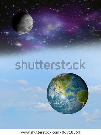 image of the earth globe on white background - stock photo