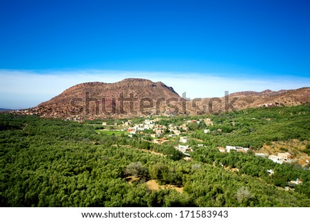 image of the Mountains Atlas in Morocco - stock photo