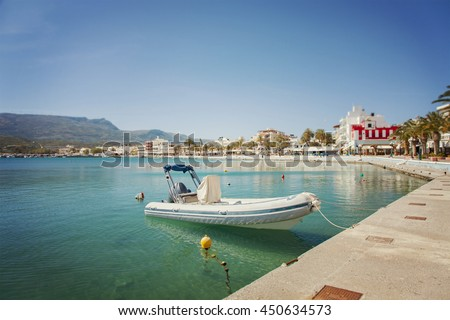 Image of the seaside town of Sitia on Crete. Greece.  - stock photo