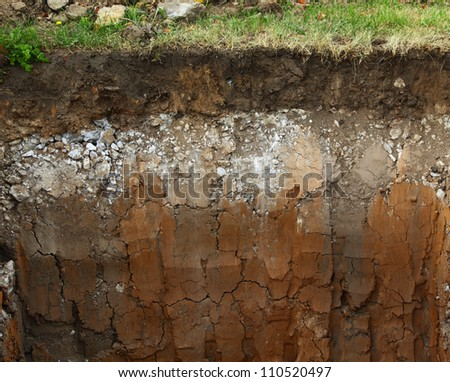 Image of underground soil layers - stock photo