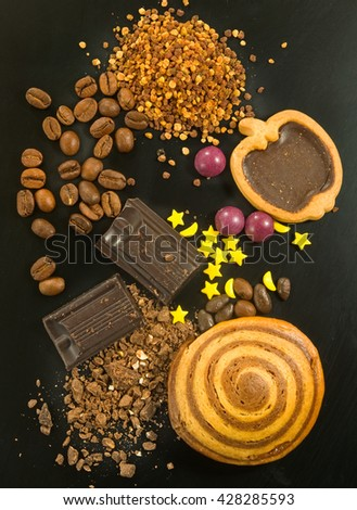 image of various sweets close up  - stock photo