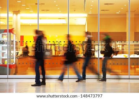 image of walking people - stock photo