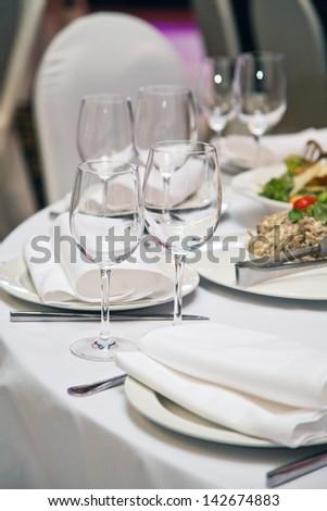 Image of wedding celebration table - stock photo