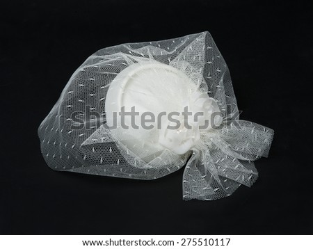 Image of wedding sugared almonds in black background  - stock photo