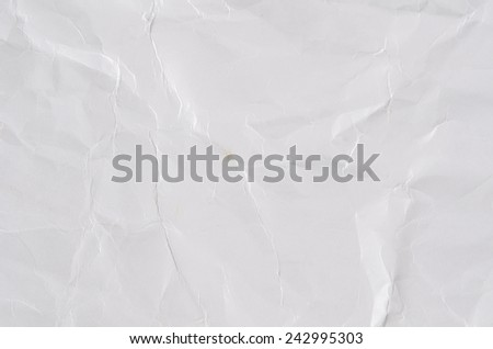 Image of white wrinkle paper - stock photo