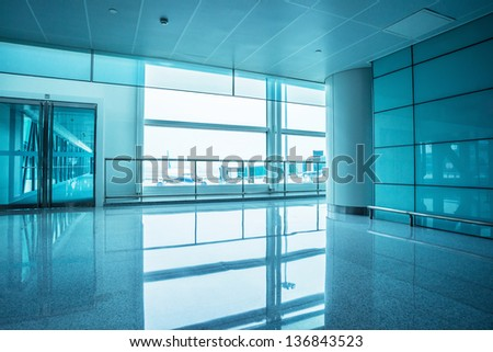 image of windows in office building - stock photo