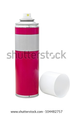 image reddish gray with a white spray can lid isolated on white - stock photo