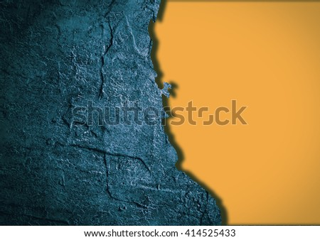 Image relative to USA travel. California state map in concrete textured frame - stock photo
