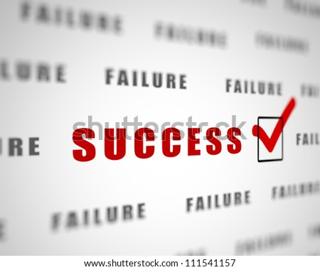 Image with a word choice symbolizing success - stock photo