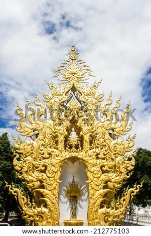 Imageof buddha, Rong Khun temple, Chiang Rai province, northern Thailand - stock photo