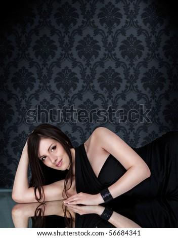 images of beautiful glamorous woman - stock photo