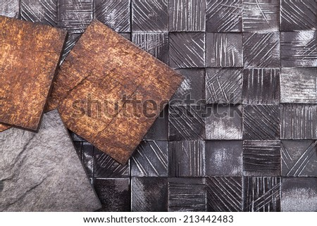 Imitation of old tiles from plastic - stock photo
