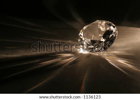 Imitation of the diamond - stock photo