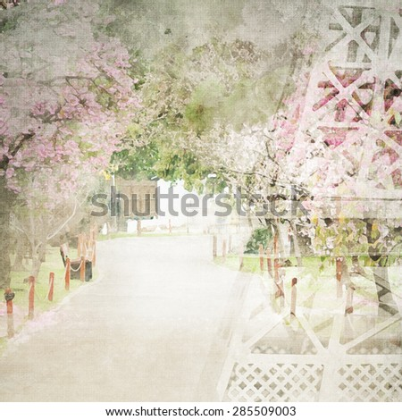 Imitation of the watercolor painting background - stock photo